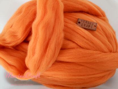 ghem lana merinos cu fir gigant portocaliu foc viu