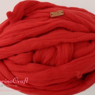 ghem lana merinos cu fir gigant rosu romantic