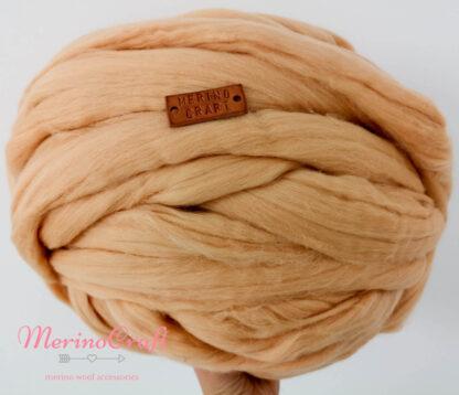 ghem de lana merinos cu fir gigant peachy