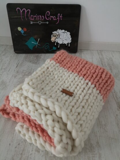 patura bebe impletita manual din lana organica Lalala by Rosarios4