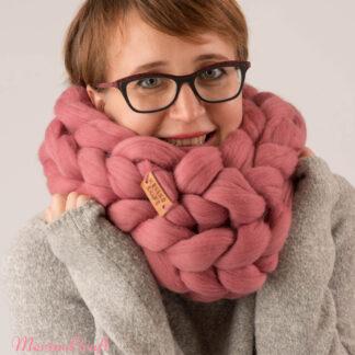 Fular impletit din lana merinos (3)