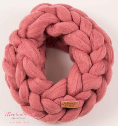 Fular lana merinos Lila impletit manual din lana merinos